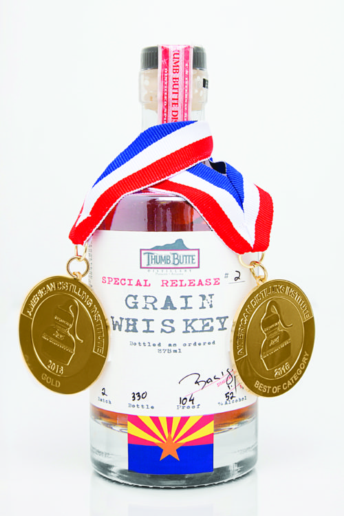 Grain Whiskey with medals photo